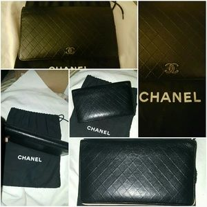 CHANEL Bags - 🎇 Chanel lamb diamond stitch L wallet